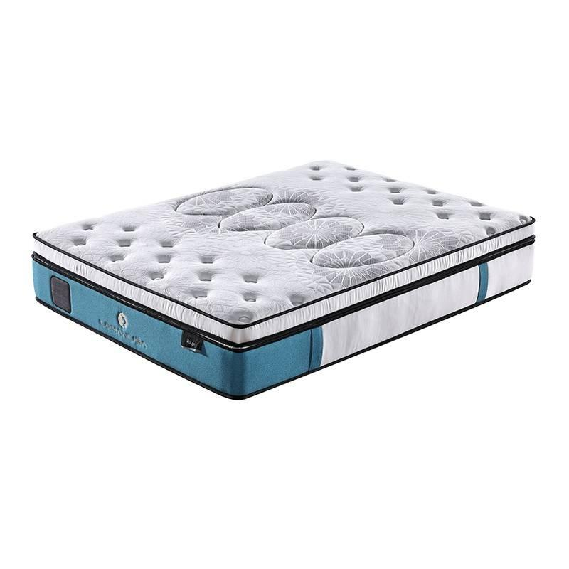 Gel Memory Foam Double Layers Pocket Innerspring Twin Mattress For Home