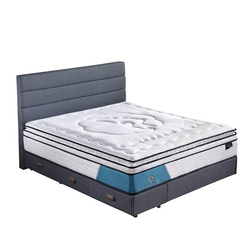 4BPA-03 Perfect Sleep Wool + Gel Memory Foam Euro Top Mattress Vacuum Packed