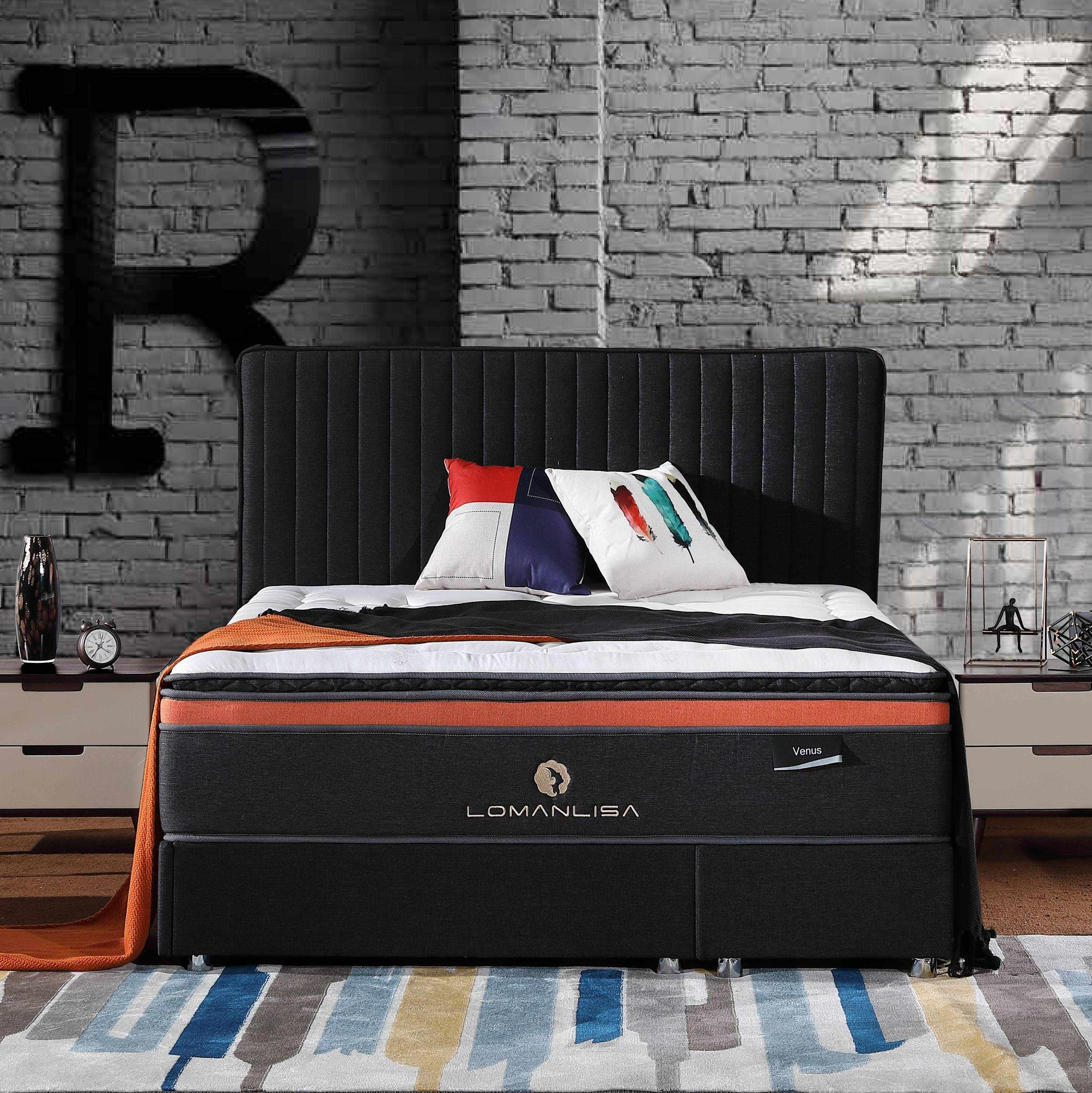 4APA-13 2018 Latest Design 5 Zoned Pocket Spring Memory Foam Mattress Low Price for home/hotel
