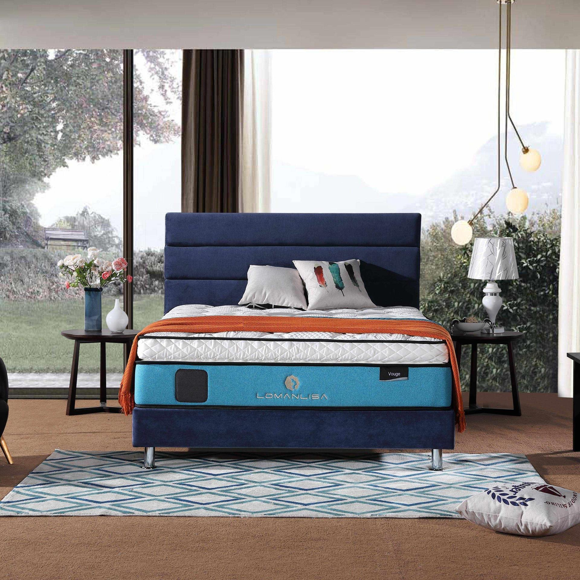 33PA-15 | Luxury Cooling Gel Memory Foam 5 Zoned Pocket Spring Mattress with Euro Top Design