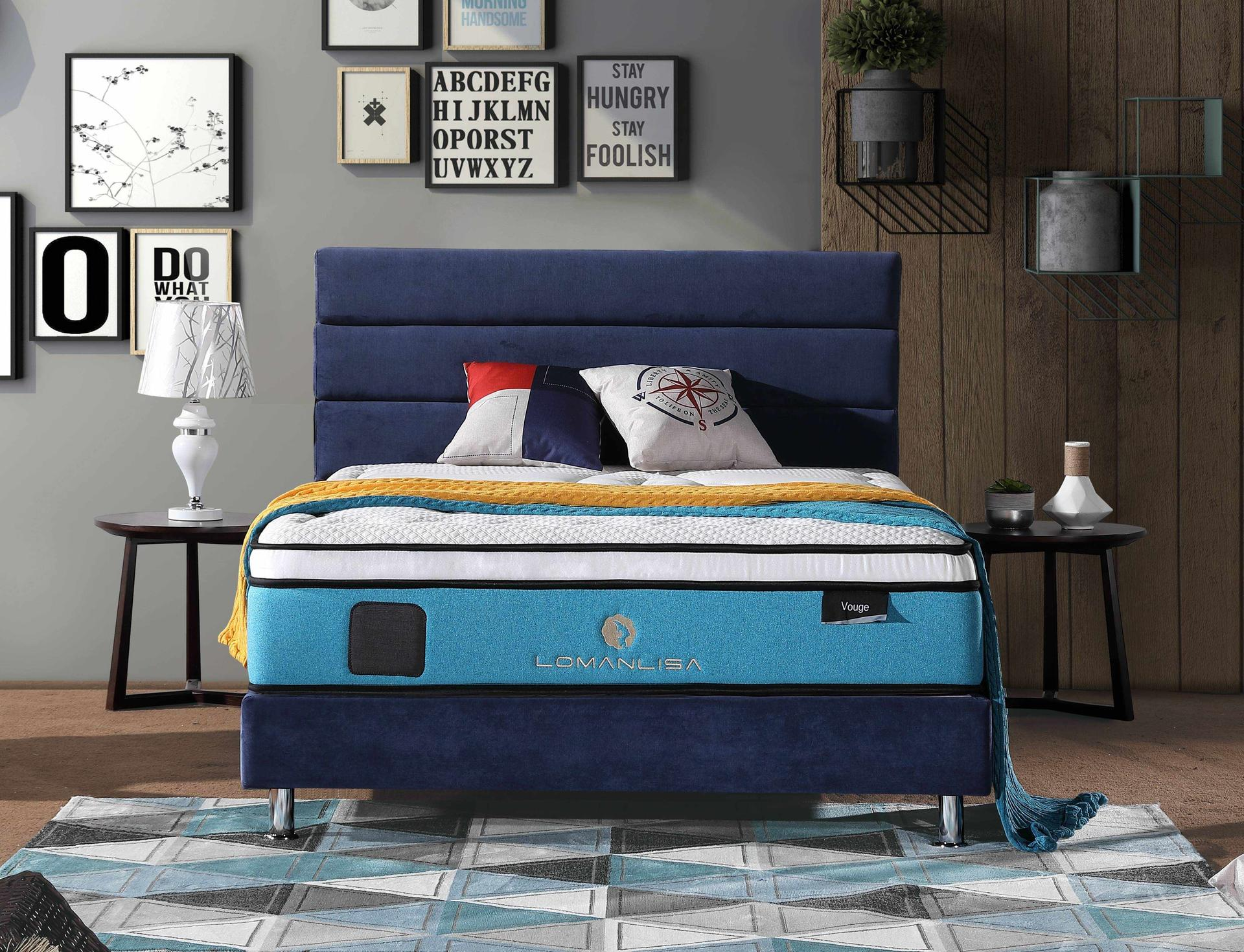 34PA-64 | Luxury Design 5 Zones Pocket Spring Mattress with Memory Foam and Natural Latex