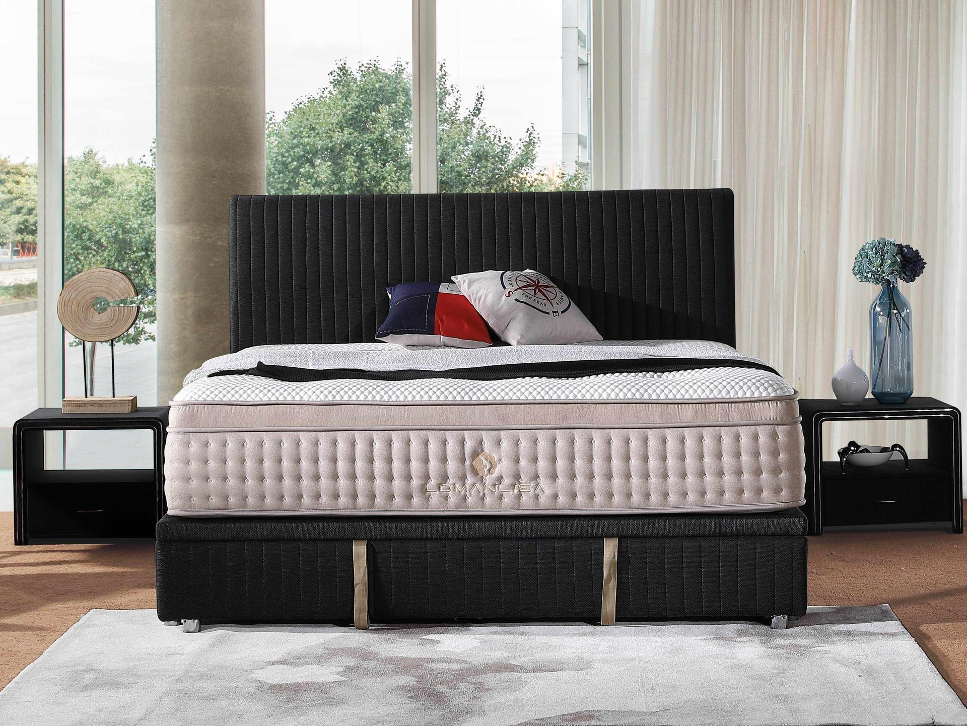 34PD-02 | 2018 Beautiful Design Hand Tufted Gel Memory Foam Double Layers Pocket Spring Mattress with High Quality Knitted Fabri