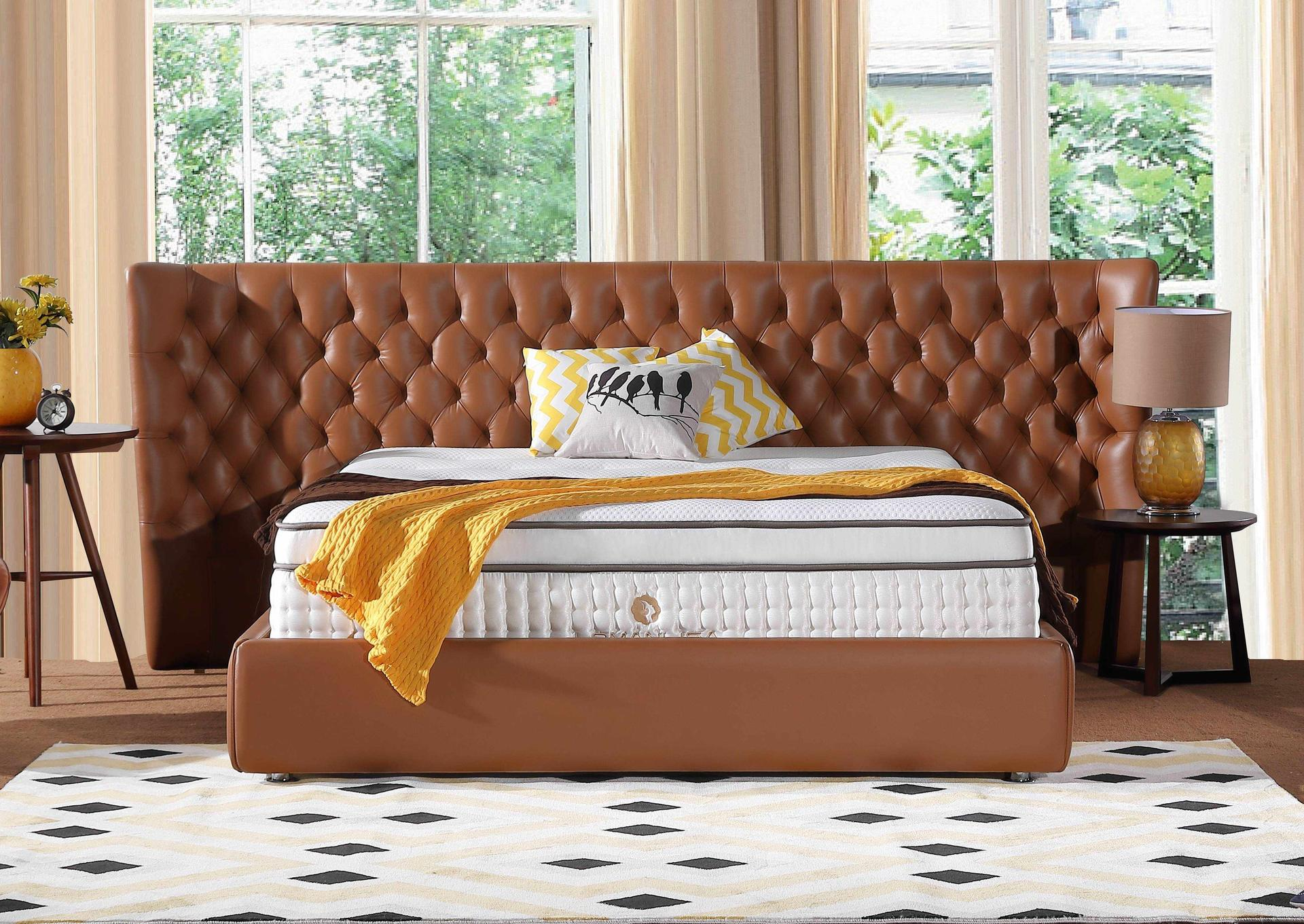34PD-03 | 2018 Hand Tufted Double Spring Latex Mattress with High Quality Ice Silk Fabric