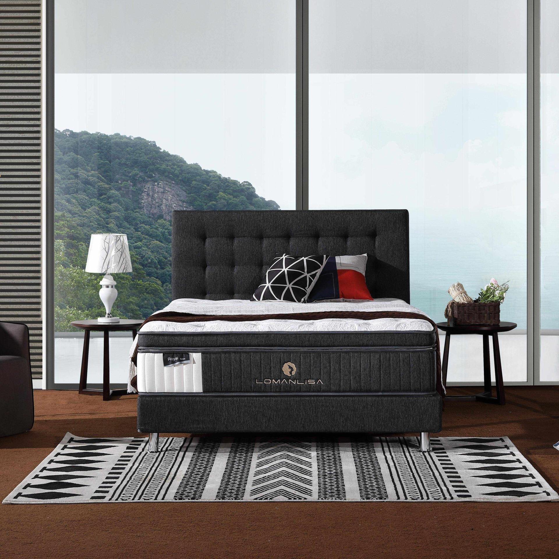 47PA-13 | Nature Latex 5 Zoned Pocket Spring Mattress with Cooling Fabric and Convoluted Foam