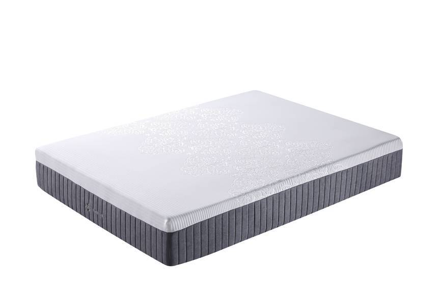 00FK-11 Medium Feel 10 Inch Bamboo Memory Foam Spring Mattress