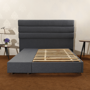 CJ-41 JLH Furniture Solid Wood Full Size Padded Bed Platform Storage Bed
