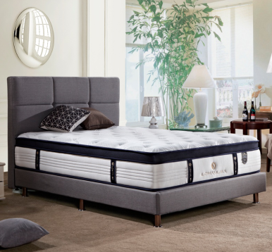 MB3301 JLH Classic Upholstered Headboard Grey Full-Size Flexible Bed