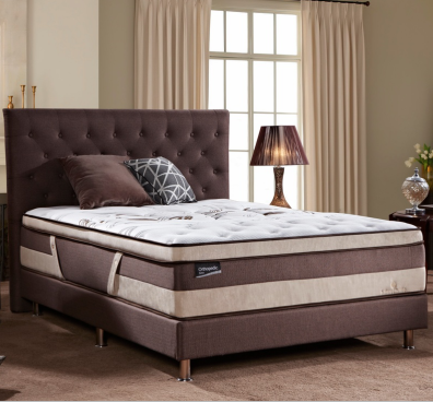 MB3319Tufted Button Upholstered Twin Headboard In Brwon Bedroom Furniture Bed