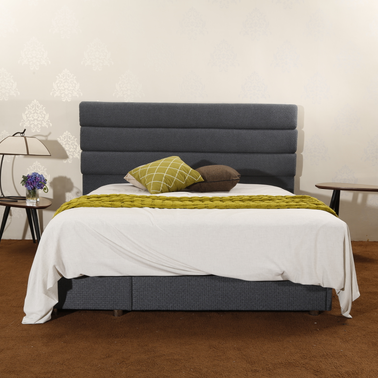 MB3359 Gray Contemporary Fabric Headboard New Bed Full Queen Size
