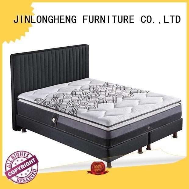 JLH Brand wool latex cool gel memory foam mattress topper pocket spring