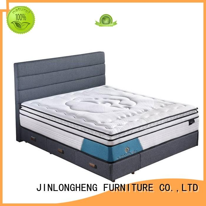JLH Brand royal design custom cool gel memory foam mattress topper