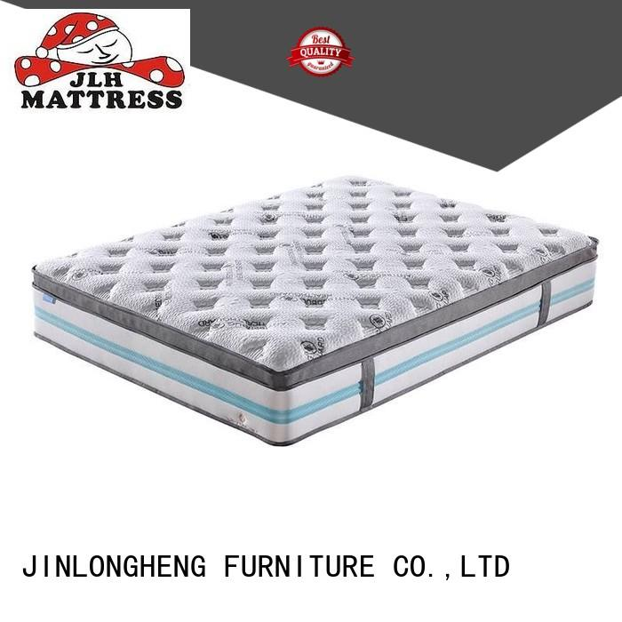 Reasonable and Fashionable High Density Soft Convoluted Foam 5 Zones Mattress with Double Layers Pocket Spring