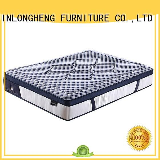 Literary Style Natural Latex  5 Zones Wave Pocket Spring Mattress with Convoluted Foam for Home
