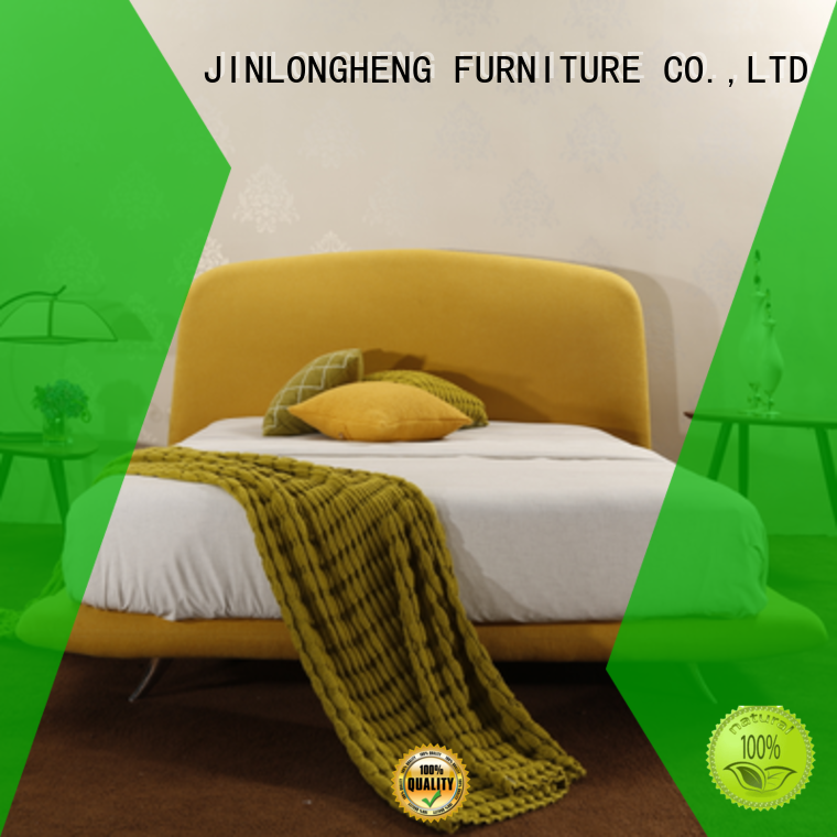 JLH white padded bed frame manufacturers for hotel