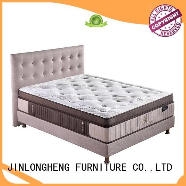 JLH quiet innerspring coil mattress High Class Fabric for guesthouse