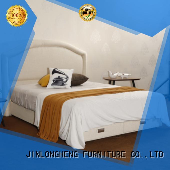 JLH Custom high white bed frame factory with softness